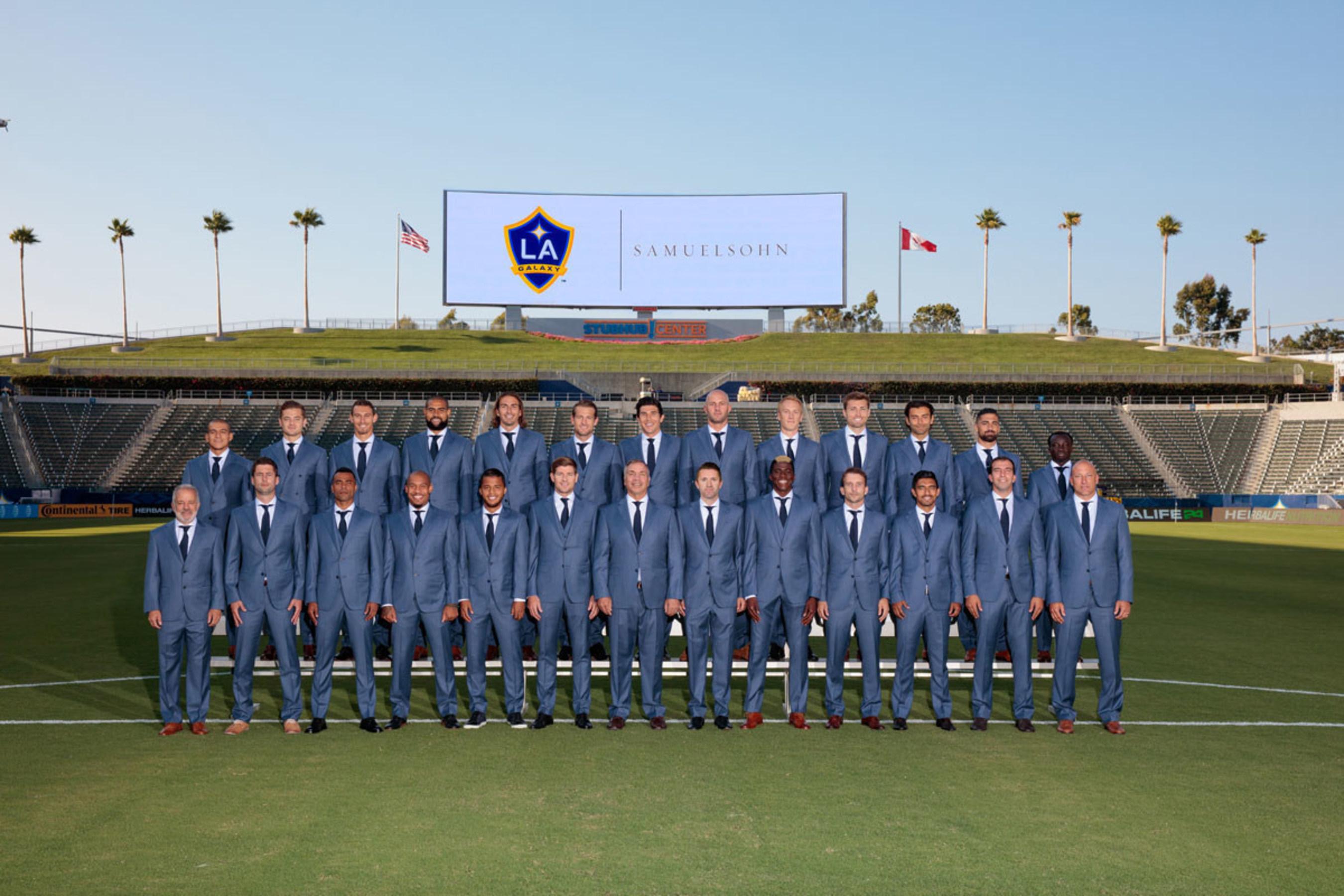 LA Galaxy in Samuelsohn Team Suit