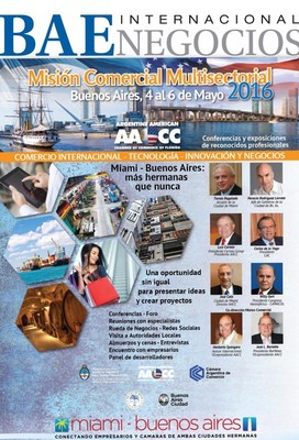 Diario BAE Negocios Internacional acompana la Mision Comercial Muctisectorial 2016 a Buenos Aires