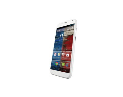 Moto X in white unveiled today by Motorola, a Google company. Designed by you, responds to you and assembled in the USA.  (PRNewsFoto/Motorola, a Google company)
