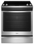 The Whirlpool(R) 5.8 Cu. Ft. Slide-In Gas Stove with TimeSavor(TM) Convection (WEG730H0DS) features the Flex Install (FIT) System by Whirlpool Corporation.