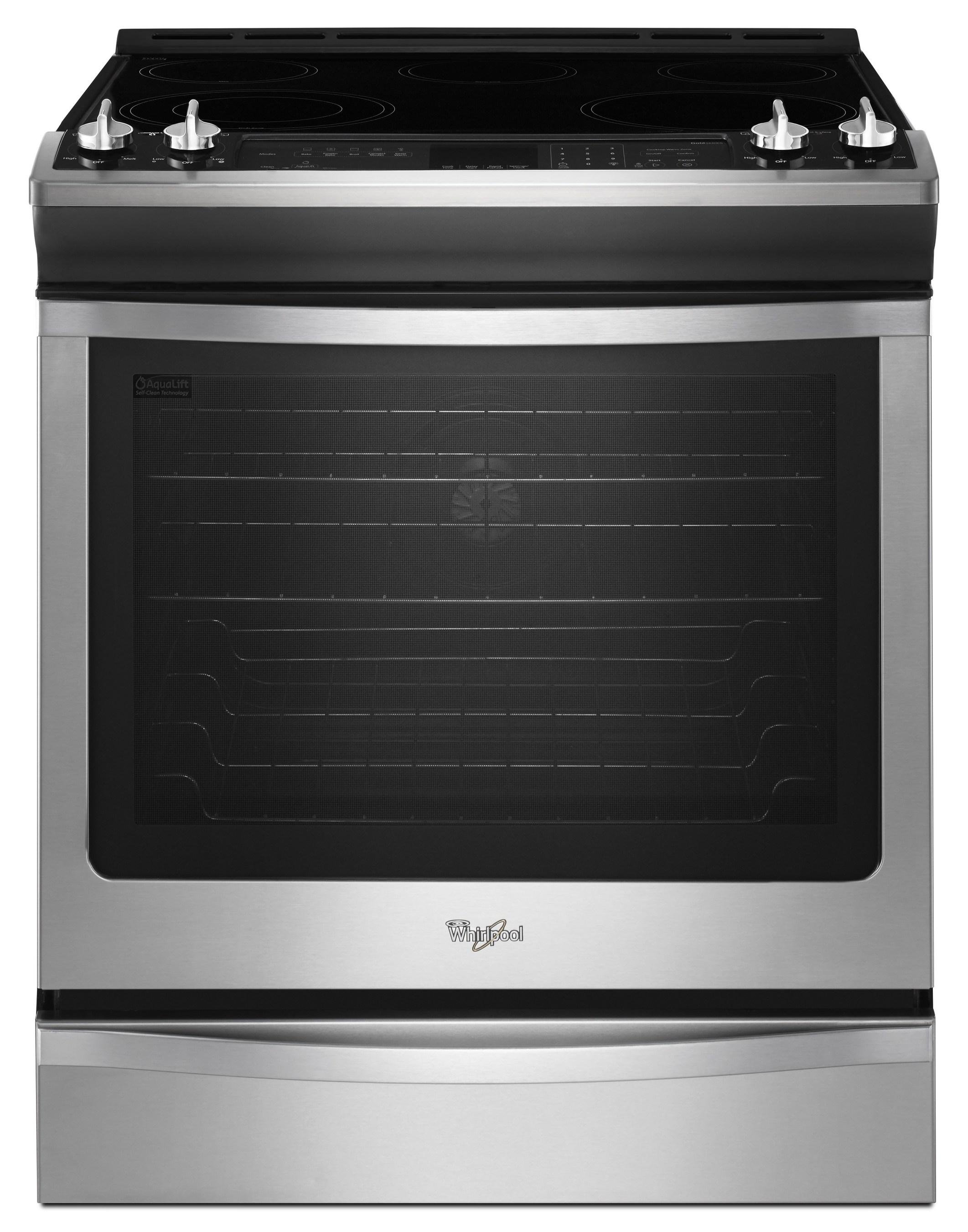 The Whirlpool(R) 5.8 Cu. Ft. Slide In Gas Stove With