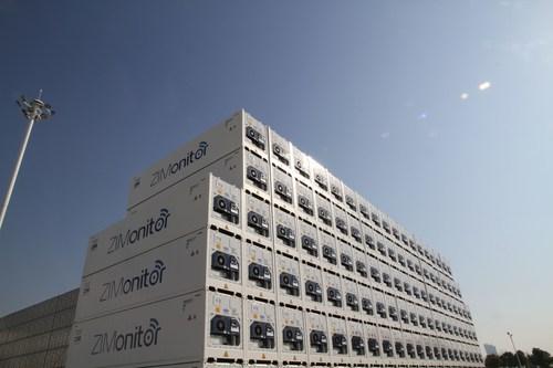 ZIM's new ZIMonitor container fleet (PRNewsFoto/ZIM Integrated Shipping Service) (PRNewsFoto/)