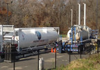 Figure 1: Prometheus Energy's LNG equipment operating on a cold November 2014 day in New England.