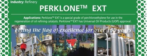 Perklone EXT, UOP Perchloroethylene for OIL & GAS PETROLEUM REFINERIES (PRNewsFoto/Banner Chemicals UK)