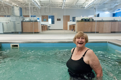 No other land-based training has been able to successfully implement high-intensity aerobic workouts for patients with osteoarthritis, likely because the aquatic environment created a reduced fear of falling, lowered joint loads, and provided three-dimensional support to help maintain balance. This study provides an evidence-based protocol that is effective at managing symptoms of OA. (PRNewsFoto/National Swimming Pool...)
