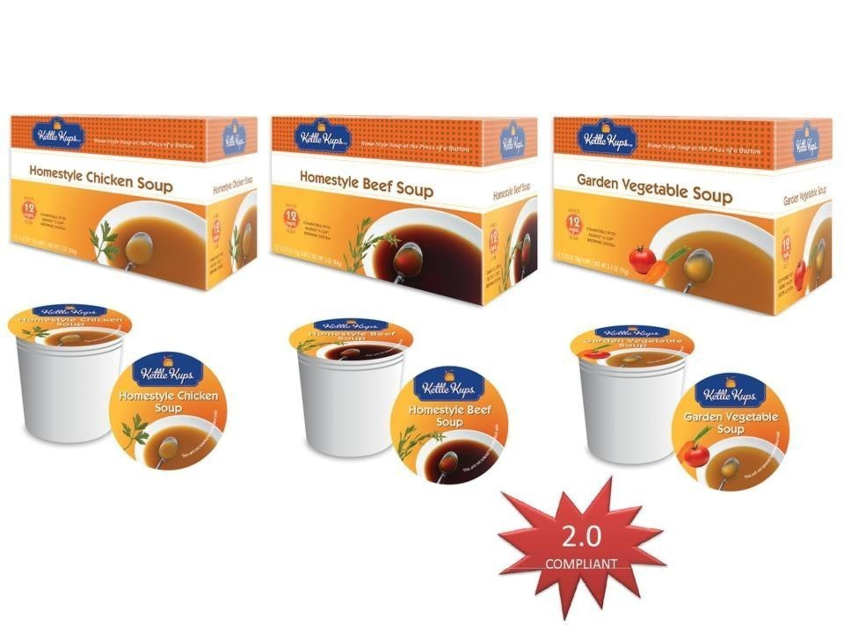 Kettle Kups™ Soups for Single Serve Brewers Adds 4th Flavor: New International French Onion Soup