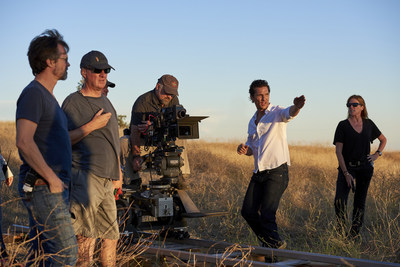 Wild Turkey's Creative Director Matthew McConaughey onsite directing a new television commercial for the bourbon brand. Photo courtesy of Wild Turkey.