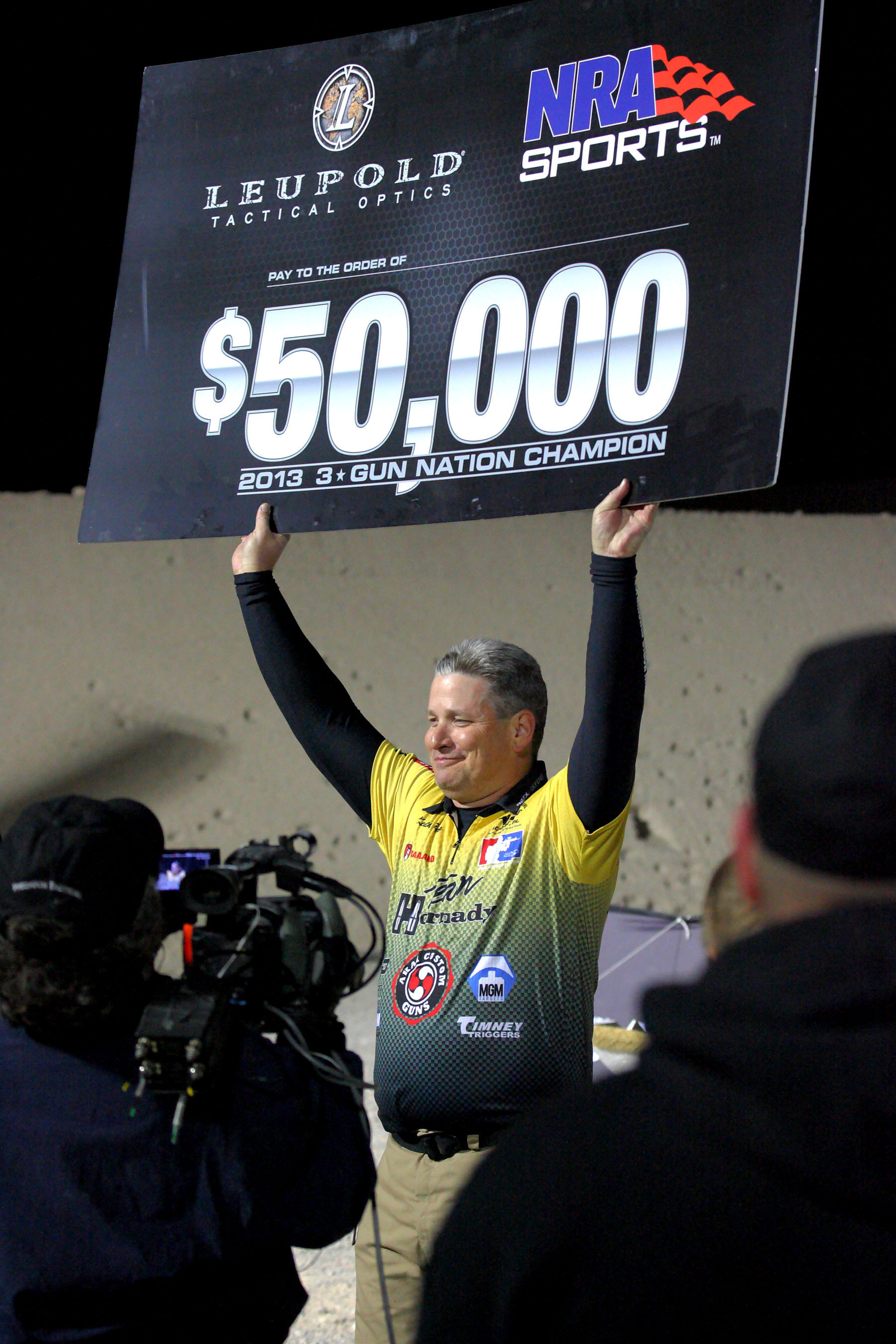 Keith Garcia, a law enforcement officer from San Ramon, California, took home the 3-Gun Nation championship and a $50,000 payday from Leupold Tactical Optics and NRA Sports.   (PRNewsFoto/3-Gun Nation)