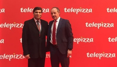 Pablo Juantegui, Executive Chairman Telepizza Group and Salim Janmohamed Chairman and Managing Director at Karali Group (PRNewsFoto/Telepizza)