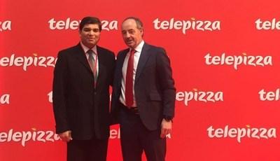 Pablo Juantegui, Executive Chairman Telepizza Group and Salim Janmohamed Chairman and Managing Director at Karali Group (PRNewsFoto/Telepizza)