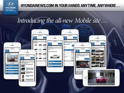 HYUNDAI LAUNCHES MOBILE OPTIMIZED VERSION OF HYUNDAINEWS.COM. (PRNewsFoto/Hyundai Motor America)