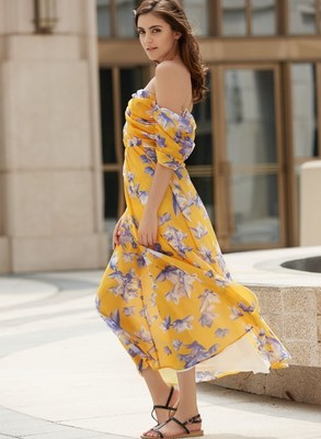 Flower Print Dress by Sammydress