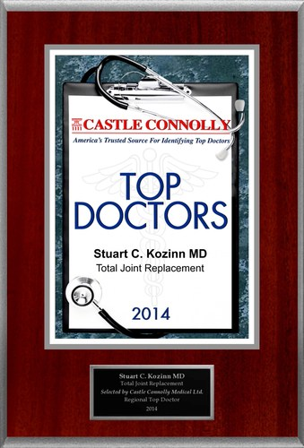 Dr. Stuart Kozinn is recognized among Castle Connolly's Top Doctors(R) for Scottsdale, AZ region in 2014. (PRNewsFoto/American Registry)