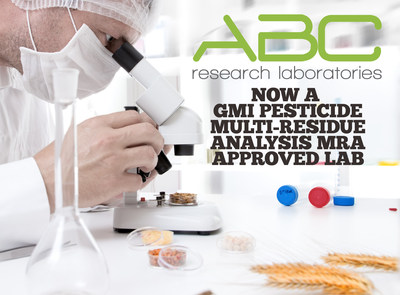 ABC Research Laboratories, a food safety lab based in Florida, passed the rigorous certification process necessary to become a General Mills GMI Pesticide Multi-Residue Analysis MRA approved laboratory. (PRNewsFoto/ABC Research Laboratories)