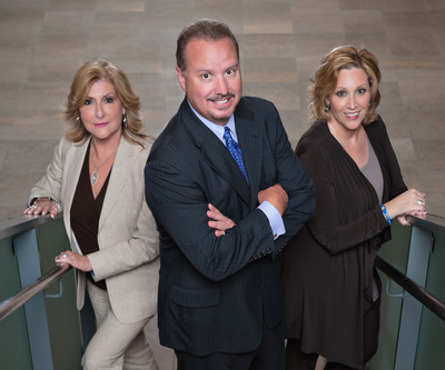Lockton adds a new division specializing in the insurance and risk management needs of entertainment companies and private clients. The new Entertainment Division and office in San Fernando Valley is led by veterans (left) Bobbi Curry, managing director of the Music & Entertainment group, and (right) Robyn Welch, managing director of the Premier Private Risk group, pictured here with (center) Lenny Fodemski, chief operating officer of Lockton's Southern California operations.  (PRNewsFoto/Lockton Insurance Brokers, LLC, Joshua Bobrove)