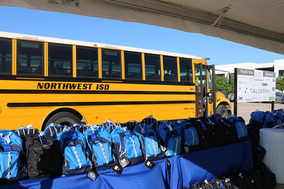 Galderma employees donated 1250 backpacks with school supplies to Northwest ISD.