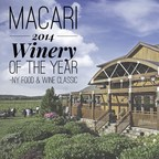 Macari Vineyards: Winery of the Year 2014, North Fork, NY (PRNewsFoto/Macari Vineyards)