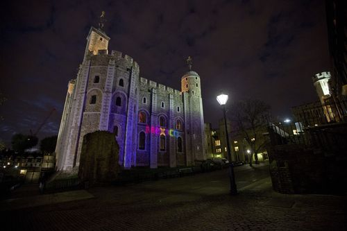 """The Mexico Tourism Board unveils its latest advertising campaign """"Live it to Believe it"""" at the Tower of London (PRNewsFoto/Mexico Tourist Board)"""