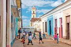 Children in front of San Juan Bautista in Remedios, Cuba--one of the cities Grand Circle Foundation will visit on its new People-to-People program in 2016.