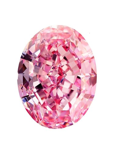 The Pink Star 59.60 carat Fancy Vivid Pink Diamond. (PRNewsFoto/Diacore)