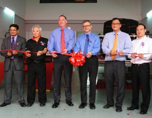 The Chief Automotive Technologies team of (from left to right) Surya Prakash, Stephen Wong, Steve Slaughter, Lee Daugherty, Jason Hans and Li Xun recently helped the company open a new training and specification center in Kuala Lumpur, Malaysia. The facility will give Chief greater access to vehicles built in the Asia-Pacific region for measuring, providing customers with better collision repair specs. (PRNewsFoto/Chief Automotive Technologies)