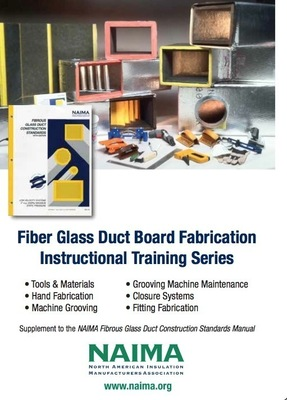 "The new DVD Fiber Glass Duct Board Fabrication -- Instructional Training Series is available from NAIMA by calling 703.684.0084. Each of the 22 segments can also be viewed on YouTube by entering ""NAIMA Insulation Videos"" into the YouTube search bar."
