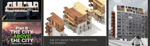 "Young architects worldwide create solutions for urbanisation in the ""City Above the City"" competition (PRNewsFoto/Metsa Wood)"
