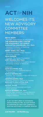 ACTforNIH Welcomes New Advisory Committee Members