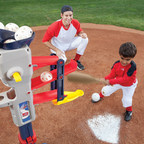 Made for kids of all skill levels, the Home Run Baseball Trainer adjusts for little and more experienced sluggers.