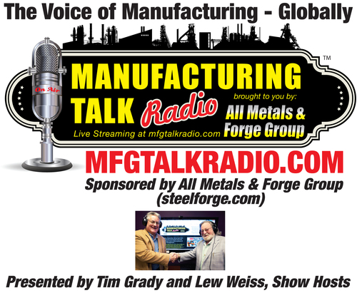 Manufacturing Talk Radio Reuter's Sign Times Square PR Newswire Institute of Supply Management Report on Business (PRNewsFoto/Manufacturing Talk Radio)
