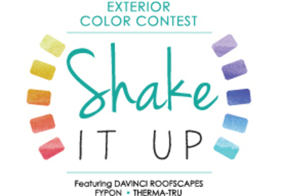 "2014 ""Shake it Up"" Exterior Color Contest is now open for public voting to determine which homeowner will win a $5,000 cash prize to add color to his or her home exterior! (PRNewsFoto/DaVinci Roofscapes)"