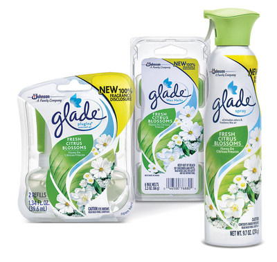 Glade(R) Fresh Citrus Blossoms collection