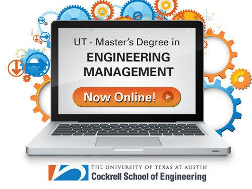 University of Texas at Austin's Master's Degree in Engineering Management - Now Online!     (PRNewsFoto/University of Texas at Austin - Center for Lifelong Engineering Education)