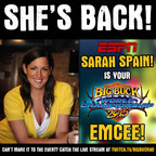 ESPN radio show host and personality, Sarah Spain, is back to host 2015Big Buck World Championship at the Hard Rock Cafe Chicago, streaming LIVEon Twitch TV!