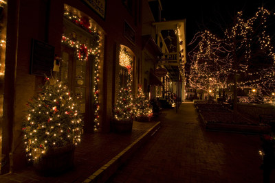 Dahlonega, Georgia is beautiful anytime, but sparkles from November 25 through December 31, 2016 with thousands of colorful twinkling lights and decorated storefronts. The Old Fashioned Christmas festivities include Victorian carolers, Santa visits, carriage rides, wine tastings and more. Photo Credit: Jack Anthony Photography