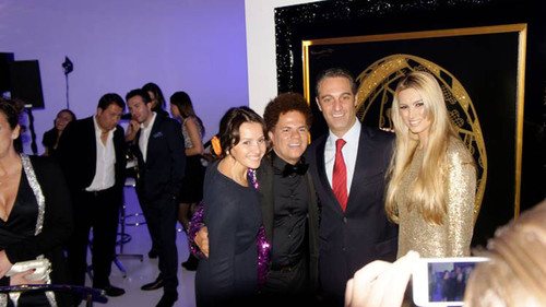 Alina Shriver, Romero Britto, Maria Elena and Carlos Slim Domit at Museo Soumaya. (PRNewsFoto/Britto Central, Inc.) (PRNewsFoto/BRITTO CENTRAL, INC.)