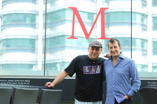 From Left to Right, Jose Padilla and Modesto Marini at Marini's on 57, during the album launch in Kuala ...