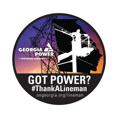 Throughout April, Georgia Power is inviting customers, employees and anyone who has been positively impacted by the work of a lineman to #ThankALineman and visit www.ongeorgia.org/lineman to sign a digital