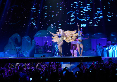 Lady Gaga performing on stage at artRAVE: The ARTPOP Ball Tour (PRNewsFoto/IfOnly)