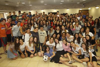 Kids from Sulam, Camp Morasha's Israel program, host Israeli teens from Gaza envelope communities in Eilat.