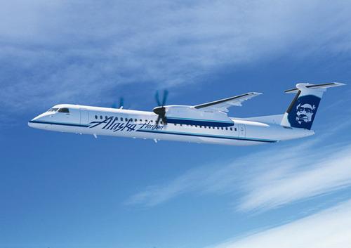 Alaska Air Group Orders Three Bombardier Q400 NextGen Turboprop Airliners
