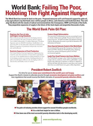 New Ad Says World Bank Plan Deserts Poor, Restricts Fight Against Hunger