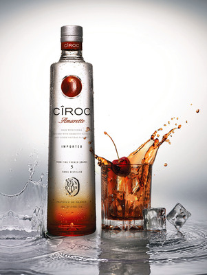 CIROC Ultra Premium introduces the newest addition to the family- CIROC Amaretto. Celebrate Life Responsibly.  (PRNewsFoto/CIROC Ultra Premium Vodka)