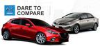 2014 Mazda models vs. competition.  (PRNewsFoto/Matt Castrucci Mazda)