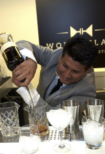 Santos Mercedes Enriquez of Celebrity Cruises during the Diageo Global Travel World Class Final ...