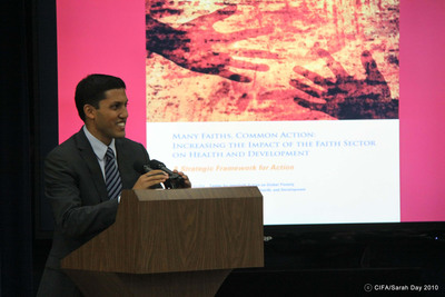 Dr. Rajiv Shah, USAID Administrator, addressed participants, calling for a round table to advise USAID on implementation of recommendations in the report.