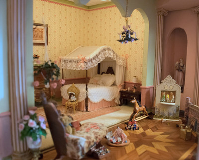 The Astolat Dollhouse Castle is furnished with over 10,000 handmade miniatures. It will be on public view for the first time at The Shops at Columbus Circle November 12 - December 8 to raise money for multiple children's charities. Admission is free. More information can be found at www.dollhousecastle.com.