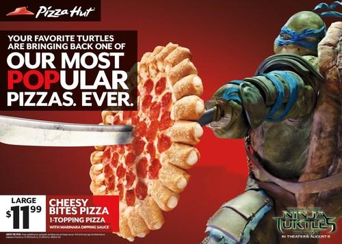Pizza Hut Powers Teenage Mutant Ninja Turtles in Blockbuster Movie Partnership. (PRNewsFoto/Pizza Hut)