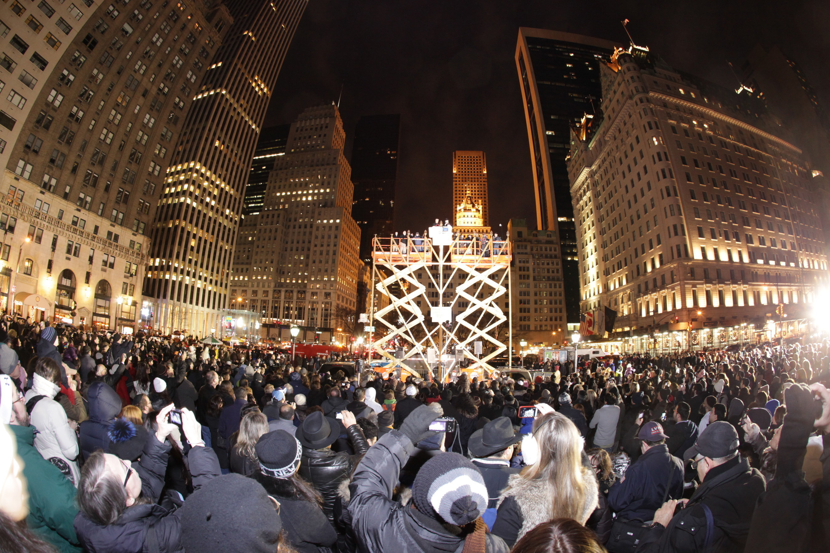 World's Largest Chanukah Menorah on Fifth Avenue by Central Park.
