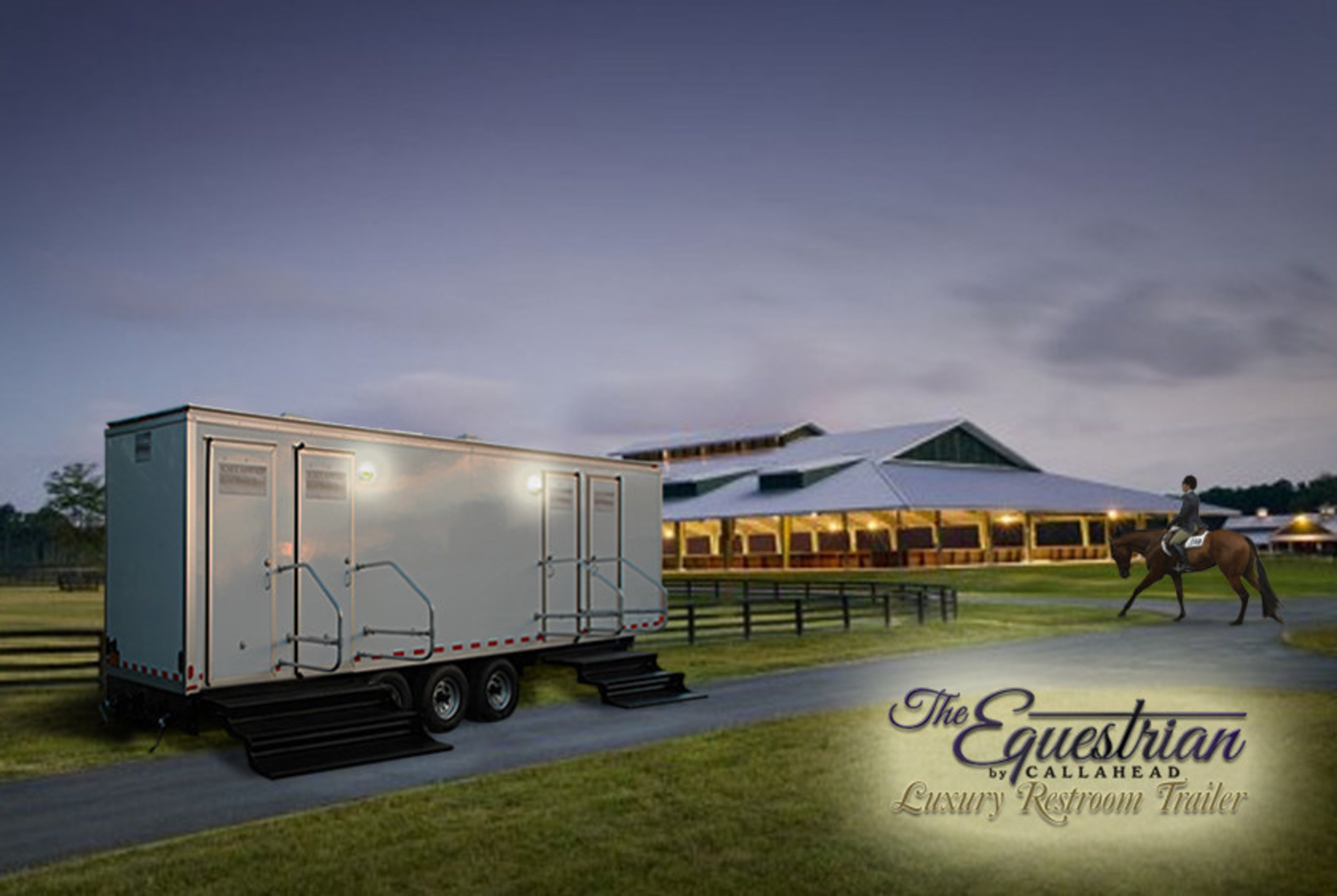 The Equestrian Restroom Trailer by CALLAHEAD